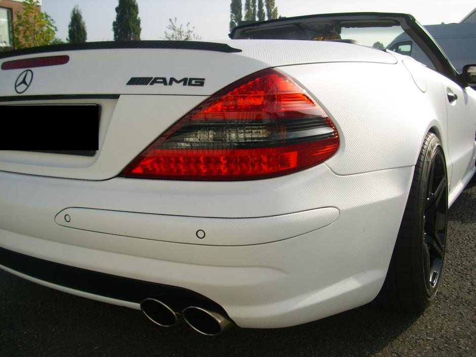 Mercedes weiss heck